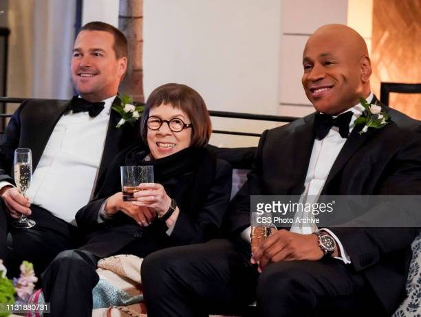 Till Death Do Us Part Pictured Chris O'Donnell Linda Hunt and LL COOL J After months of planning the NCIS family celebrates the wedding of Kensi and...