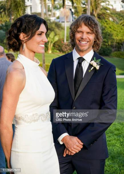 Till Death Do Us Part Pictured Daniela Ruah and Eric Christian Olsen After months of planning the NCIS family celebrates the wedding of Kensi and...