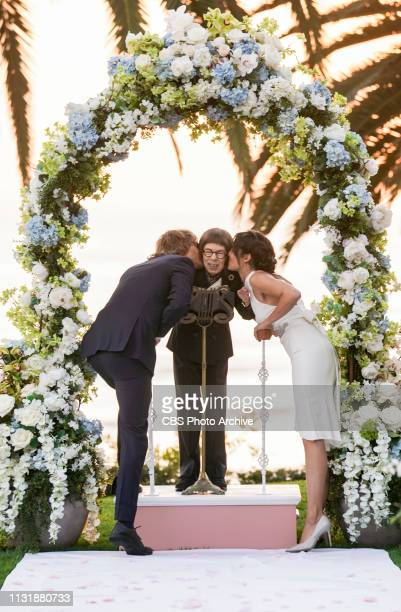 Till Death Do Us Part Pictured Eric Christian Olsen Linda Hunt and Daniela Ruah After months of planning the NCIS family celebrates the wedding of...