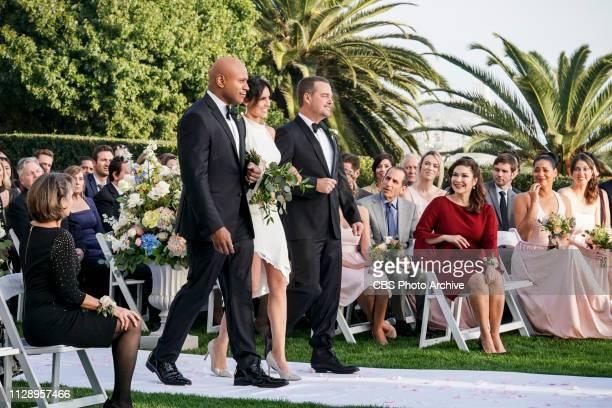 Till Death Do Us Part Pictured LL COOL J Daniela Ruah and Chris O'Donnell After months of planning the NCIS family celebrates the wedding of Kensi...