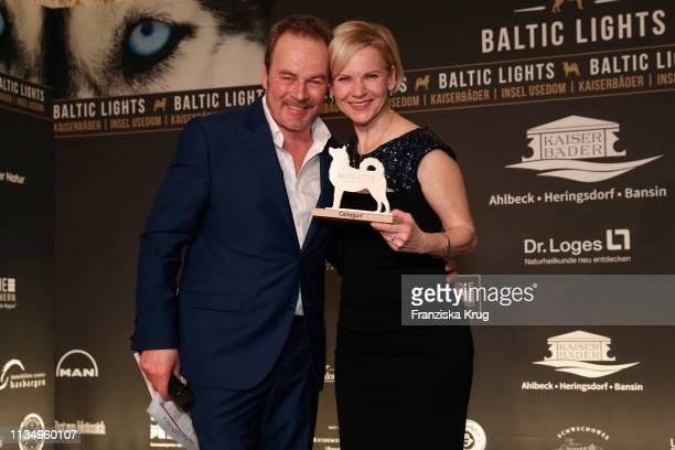 Till Demtroeder and Andrea Kathrin Loewig during the 'Baltic Lights' gala night event on March 9 2019 in Heringsdorf Germany The annual charity event...