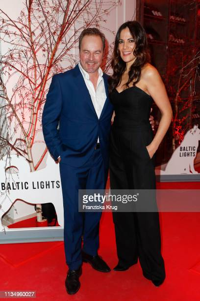 Till Demtroeder and Bettina Zimmermann during the Baltic Lights gala night event on March 9 2019 in Heringsdorf Germany The annual charity event...