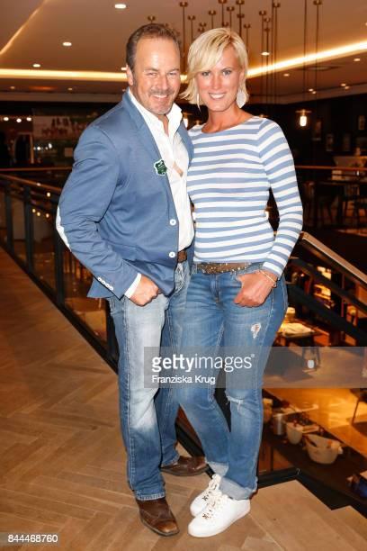 Till Demtroeder and Juliana Senjo attend the Till Demtroeders CharityEvent 'Usedom Cross Country' at the Pier 14 on September 8 2017 near Heringsdorf...