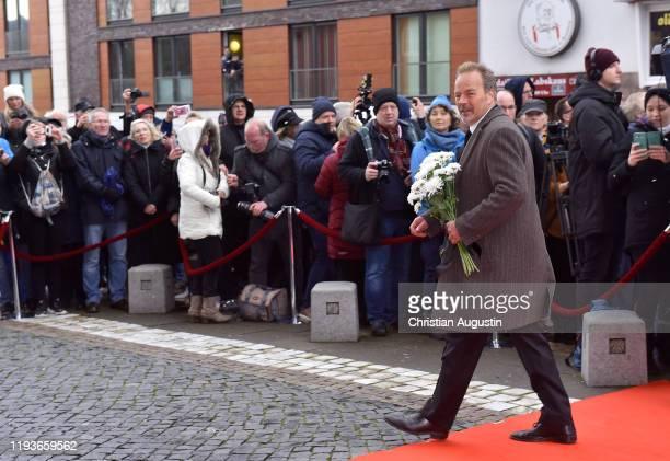 Till Demtroeder during the memorial service for Jan Fedder at Hamburger Michel on January 14 2020 in Hamburg Germany German actor Jan Fedder was...