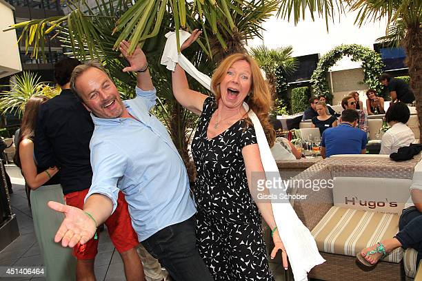 Till Demtroeder, Marion Kracht attend the 'Sommerfest der Agenturen' at H'ugo's on June 28, 2014 in Munich, Germany.