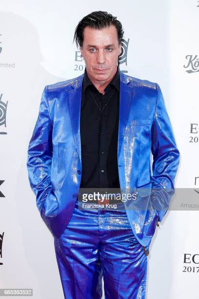Till Lindemann attends the Echo award red carpet on April 6 2017 in Berlin Germany