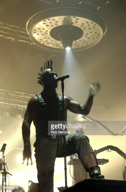 Till Lindemann from Rammstein performs live at Heineken Music Hall in Amsterdam Netherlands on December 03 2001
