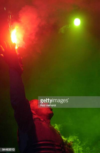 Till Lindemann from Rammstein performs live on stage at Pinkpop festival in Landgraaf Holland on May 20 2002