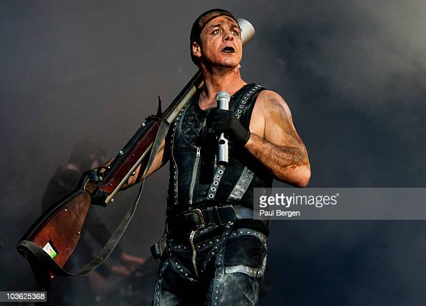 Till Lindemann of Rammstein performs on stage at Pinkpop festival on 28th May 2010 in Landgraaf Netherlands