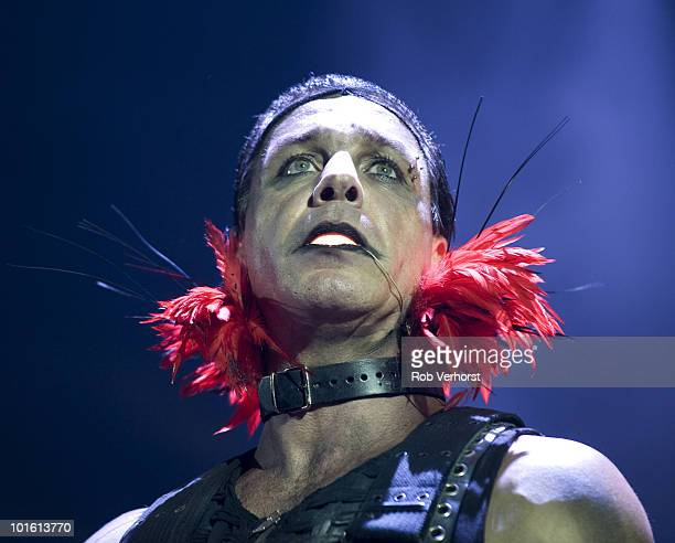 Till Lindemann of Rammstein performs on stage at the Gelredome on 6th December 2009 in Arnhem Netherlands