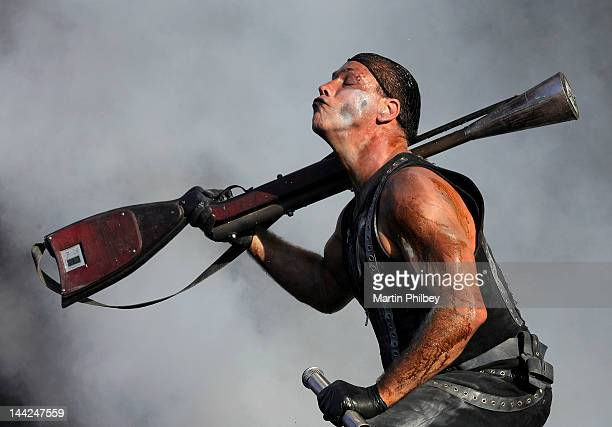Till Lindemann of Rammstein performs on stage at the Melbourne Big Day out at Flemington racetrack on Sunday 30th January 2011 in Melbourne Australia
