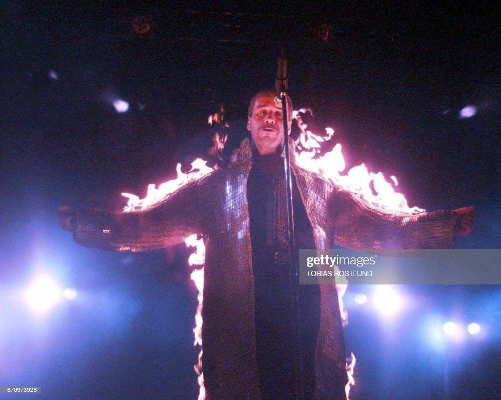 Till Lindemann, singer of the spectacular German rock band