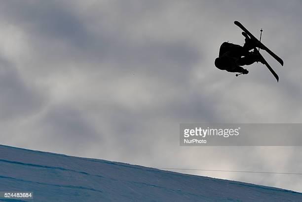 Till Matti from Switzerland during Men's Ski Slopestyle Heat 1 qualification round at FIS Freestyle World SKI CHampionships 2015 in Kreischberg...