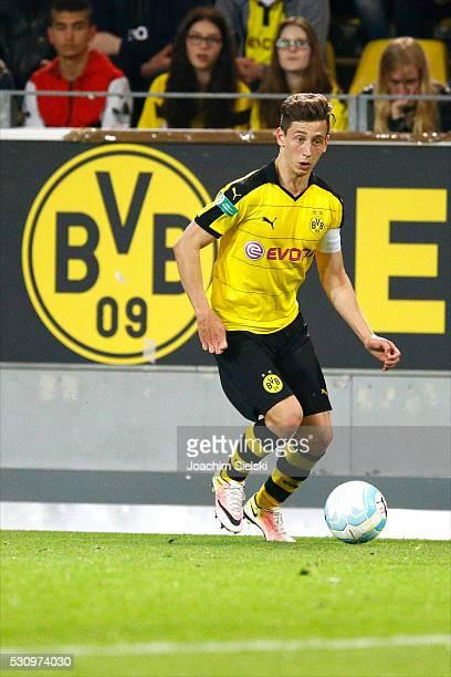 Till Schumacher of Dortmund during the German U19 Championship Semi Final First Leg match between Borussia Dortmund and 1860 Muenchen at Signal Iduna...