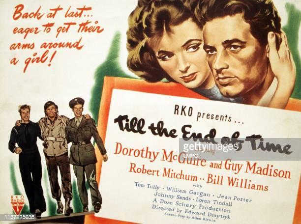 Till The End Of Time poster bottom from left Guy Madison Robert Mitchum Bill Williams top form left Dorothy McGuire Guy Madison 1946
