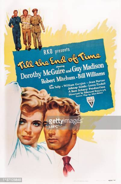 Till The End Of Time poster US poster top from left Guy Madison Robert Mitchum Bill Williams bottom from left Dorothy McGuire Guy Madison 1946