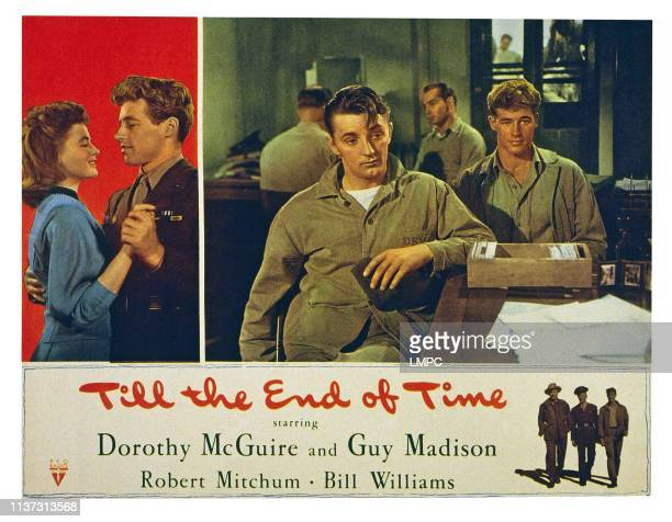 Till The End Of Time US lobbycard from left Dorothy McGuire Guy Madison Robert Mitchum Guy Madison 1946
