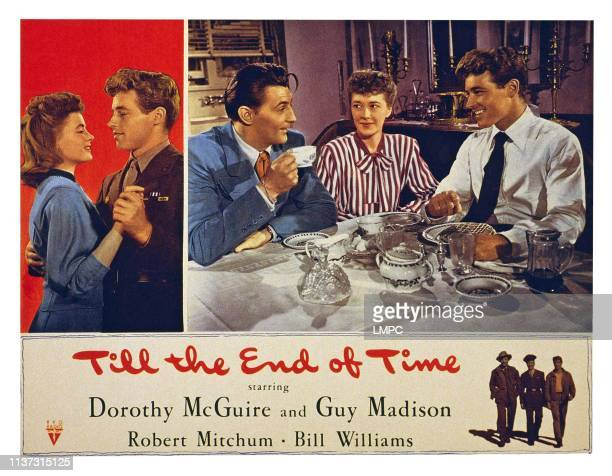 Till The End Of Time US lobbycard from left Dorothy McGuire Guy Madison Robert Mitchum Ruth Nelson Guy Madison 1946