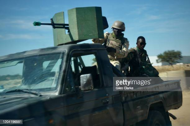 Tillaberi, Niger. December 11, 2019. Niger Army soldiers on security patrol in Niger's troubled western region.of Tillaberi. The lawless borders with...