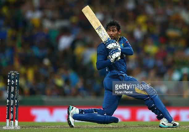 Tillakaratne Dilshan of Sri Lanka bats during the 2015 ICC Cricket World Cup match between Australia and Sri Lanka at Sydney Cricket Ground on March...