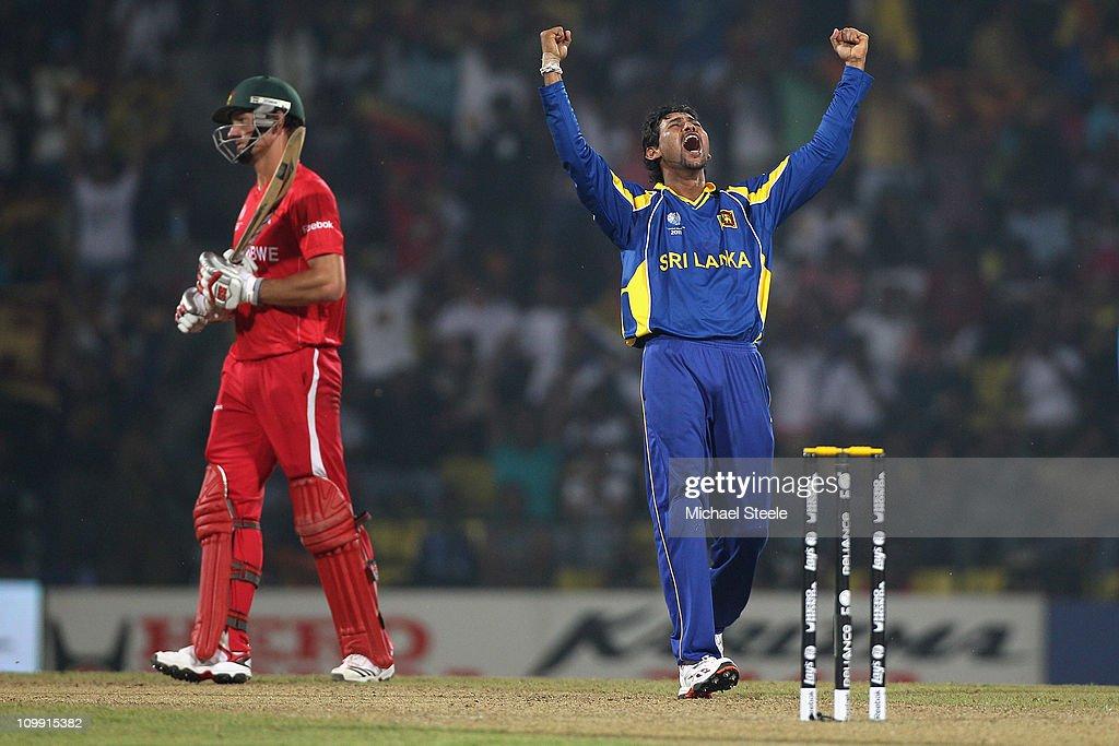 Sri Lanka v Zimbabwe: Group A - 2011 ICC World Cup : News Photo