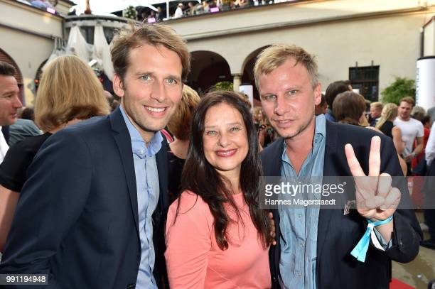 Tillbert Strahl Verena Buratti and Robert Stadlober during the Bavaria Film reception during the Munich Film Festival 2018 at Kuenstlerhaus am...