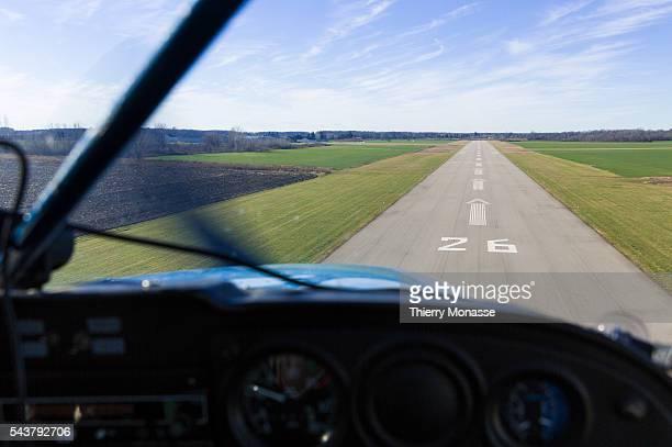 Tillsonburg Regional Airport Oxford County Ontario Canada December 24 2015 A Cessna 172 is landing in Tillsonburg Regional Airport The Cessna 172...