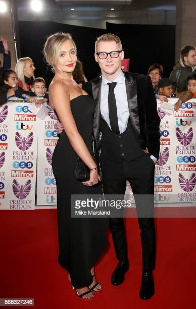 Tilly Keeper and Jamie Borthwick attend the Pride Of Britain Awards at Grosvenor House on October 30 2017 in London England