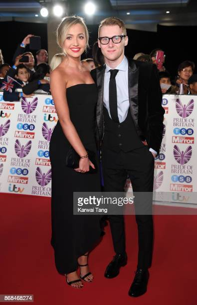 Tilly Keeper and Jamie Borthwick attend the Pride Of Britain Awards at the Grosvenor House on October 30 2017 in London England