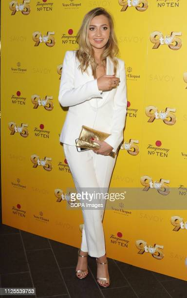 Tilly Keeper arrives for the 9 to 5 the Musical Gala Night at The Savoy Theatre The Strand