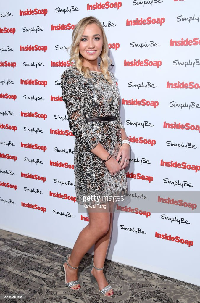 Tilly Keeper attends the Inside Soap Awards at The Hippodrome on November 6, 2017 in London, England.
