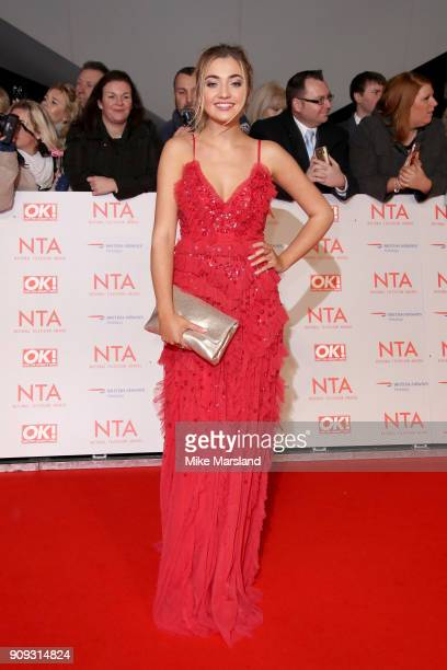 Tilly Keeper attends the National Television Awards 2018 at The O2 Arena on January 23 2018 in London England