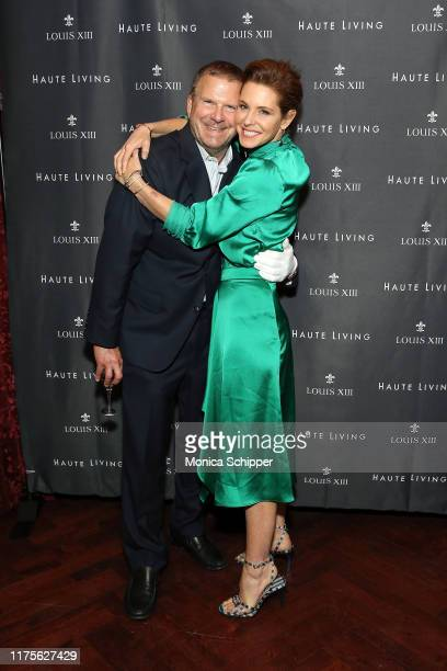 Tilman Fertitta and Stephanie Ruhle attend as Haute Living and Louis XIII celebrate Tilman Fertitta cover and book release on September 18 2019 in...