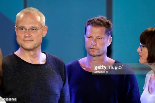 Tilman Valentin Til Schweiger ist Gast bei Sandra Maischbergers Sendung 'Ich stelle mich' vl Sandra Maischberger Horst Hack Florian Schweiger Andrea...