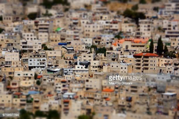 Tilt shift of old city Jerusalem, Jerusalem, Israel