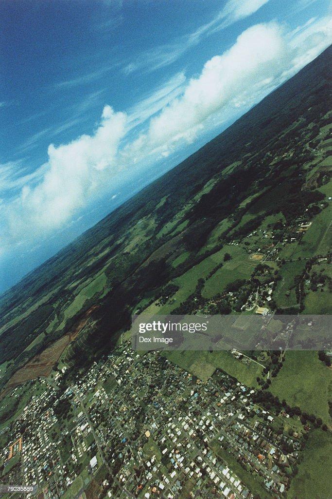 Tilted view of Maui, Hawaii, USA : Stock Photo
