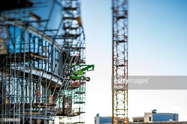 tilt-shift on construction site. - foundation make up stock pictures, royalty-free photos & images
