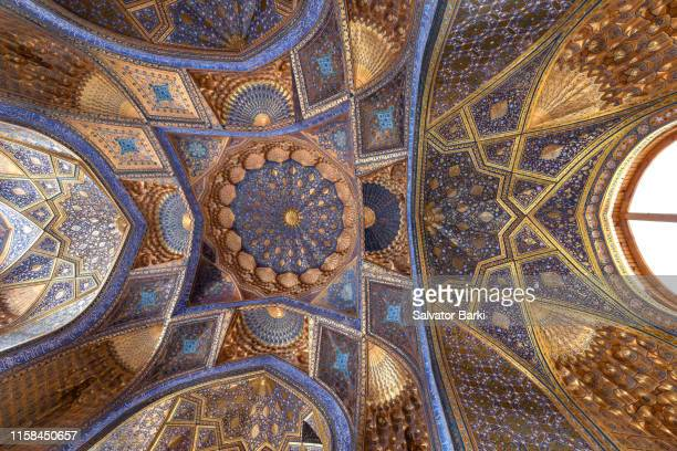 tilya kori madrassah, samarkand, uzbekistan. - muziek stock pictures, royalty-free photos & images