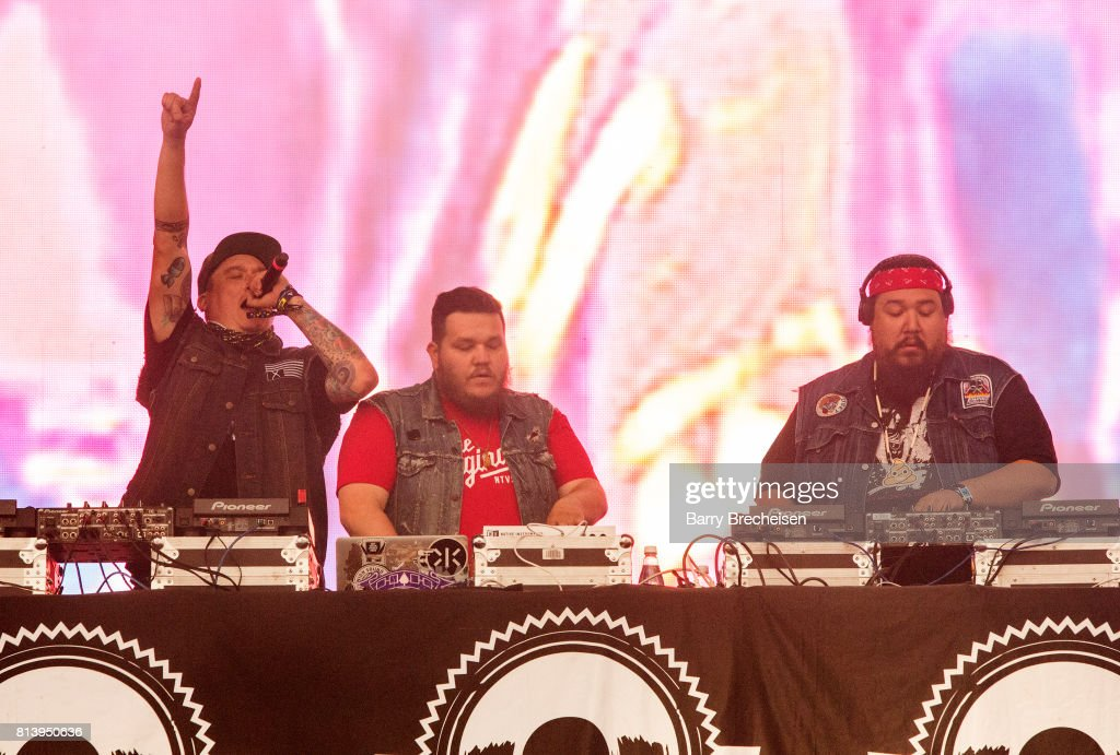 DJ NDN, Tim 2oolman and Bear Witness of A Tribe Called Red perform ...