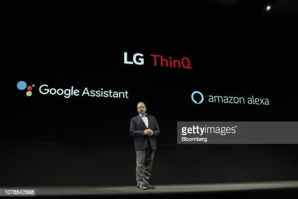 Tim Alessi senior director of home entertainment product marketing for LG Electronics speaks about LG ThinQ with Google Assistant and Amazon Alexa...