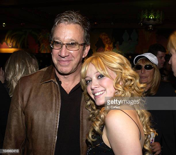 Tim Allen and Hilary Duff during The Lizzie McGuire Movie Premiere at The El Capitan Theater in Hollywood California United States