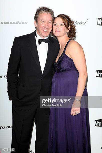 Tim Allen and Jane Hajduk arrive to the 17th Annual Elton John Aids Foundation Party to celebrate the Academy Awards at the Pacific Design Center in...