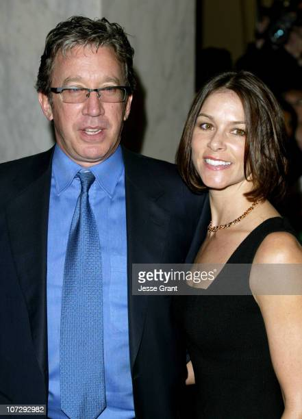 Tim Allen and Jane Hajduk during The Dorothy and Sherrill C Corwin Human Relations Award and Gala Dinner Arrivals at Regent Beverly Wilshire Hotel in...