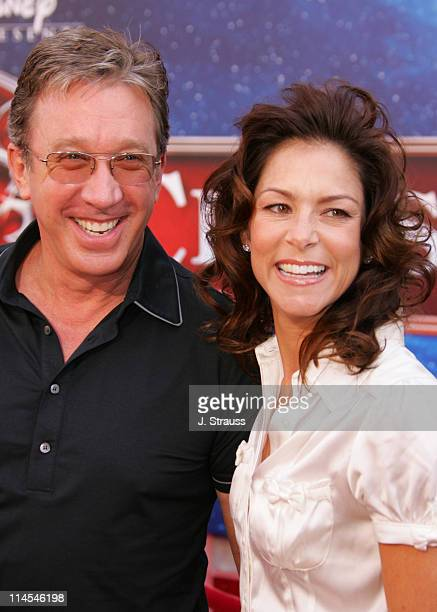 Tim Allen and Jane Hajduk during The Santa Clause 3 The Escape Clause Los Angeles Premiere Arrivals at El Capitan in Hollywood California United...