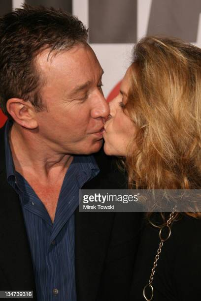 Tim Allen and Jane Hajduk during The Shaggy Dog movie premiere at El Capitan Theater in Hollywood California United States