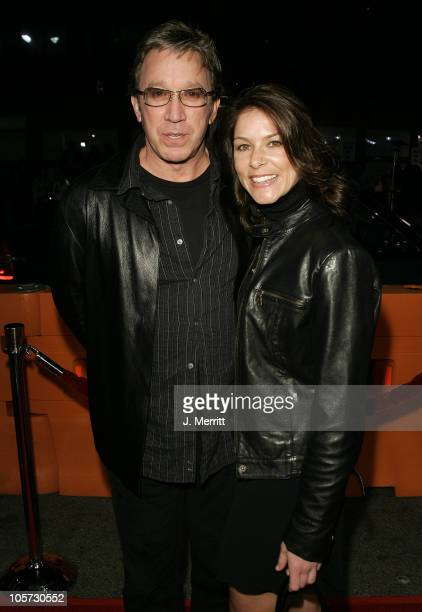Tim Allen and Jane Hajduk during The Upside of Anger Los Angeles Premiere Arrivals at The Mann's National Theatre in Westwood California United States