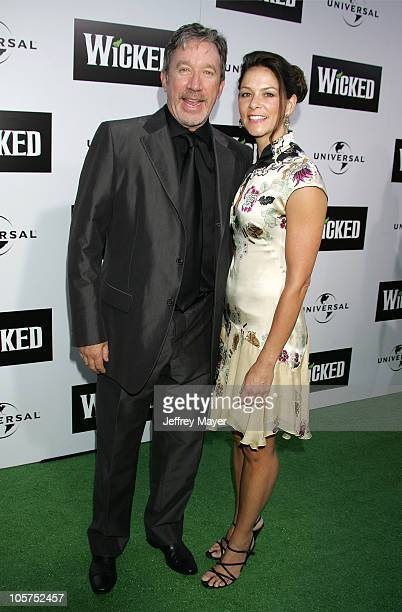 Tim Allen and Jane Hajduk during Wicked Los Angeles Opening Night Arrivals at The Pantages Theatres in Los Angeles California United States