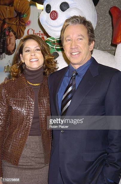 Tim Allen and Jane Hajduk during World Premiere of Christmas With The Kranks at Radio City Music Hall in New York City New York United States
