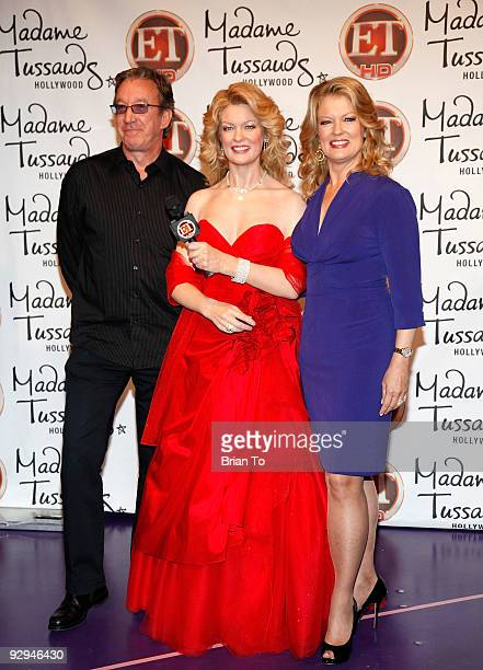 Tim Allen and Mary Hart attend Mary Hart Wax Figure Unveiling At Madame Tussauds Hollywood at Madame Tussauds on November 9, 2009 in Hollywood,...