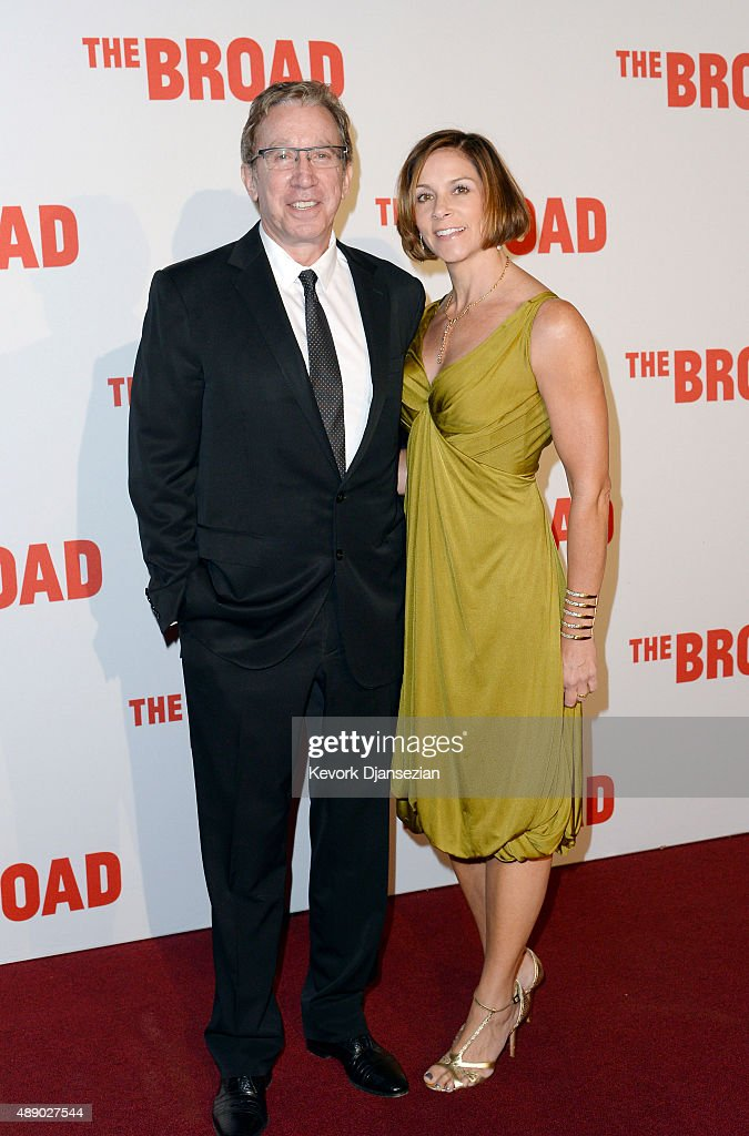Tim Allen and wife Jane Hajduk attends The Broad museum's inaugural celebration September 18, 2015, in Los Angeles, California.